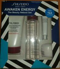 New in Box Shiseido 4-Pc Awaken Energy The Beauty Reboot Set