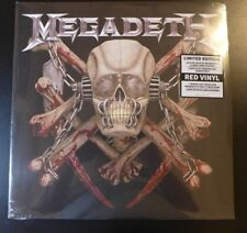 MEGADETH -SIGNED KILLING IS MY BUSINESS 30TH ANNIVERSARY RED VINYL RECORD SLEEVE