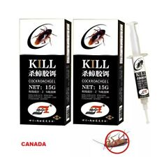 Roach Killer / Cockroach Gel Bait TWO Tubes with Plunger and Tip