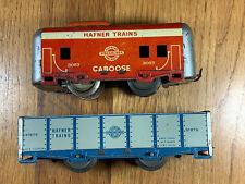 Pair Of Vintage Hafner Tin Train Cars
