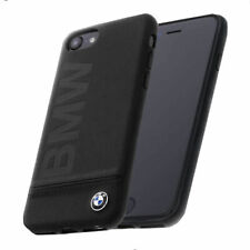 BMW Signature Leder Schutzhülle iPhone 7, iPhone 8 Back Case Cover Schwarz