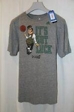 Men's Adidas Boston Celtics Distressed Logo Tri-Blend Heathered Grey T-Shirt 2XL