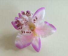 Fashion Wedding Bridal Flower Orchid Leopard Hair Clip Brooch Pin Barrette