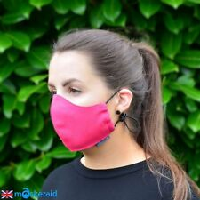 MASKERAID Pink Cotton Canvas Face Mask Mouth Nose Reusable Machine Washable