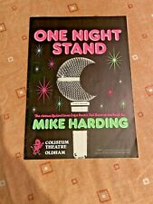 More details for rare 1981 mike harding one night stand programme coliseum theatre oldham