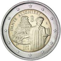 Italien 2 Euro Dante Alighieri 2015 Gedenkmünze Prägefrisch