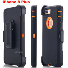 Waterproof iPhone 8 Plus Case Heavy Duty Belt Clip Stand Holster Cover for Apple