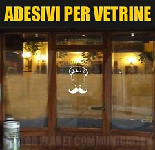 vetrofanie adesivo ristorante chef food vetrine street trattoria bar