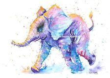 Pintura Acuarela Bebé Elefante fantástico por Sophie Appleton réplica De Original