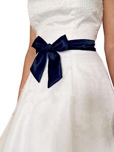 "2""x58"" SATIN Fancy Dress Party Wedding Ribbon SASH Tie Belt Bow Band Bridesmaid"