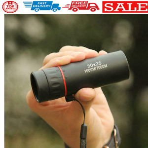 Mini Portable Zoom Scope 30x25 Monocular Telescope for Travel Hunting
