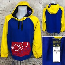 Polo Ralph Lauren Hi Tech Hybrid Hoodie Blue Yellow Colorblock Men's XL  (MJ2)