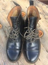 WW2 British Officer Black Toe Cap Boots Size 9-10 Bowhill & Elliott 1940s