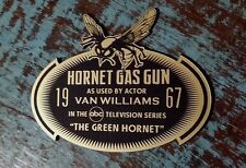 CUSTOM 1967 GREEN HORNET GAS GUN DISPLAY PLACARD TV SERIES BRUCE LEE PROP