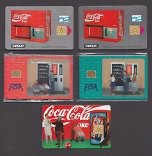 Coca-Cola Phonecards Coke Czech Czechoslovakia chip phone cards vending machine
