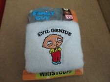 Family Guy Wrist Cuff, Evil Genius - Sport Band - White Material - New