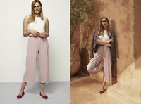 LONG TALL SALLY DUSTY PINK PLISSE CULOTTE CROP TROUSER PANT  SZS 10 12 14