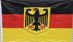 Deutschland Fahne mit Adler, groß 150cm x 90cm Neu Flagge Germany