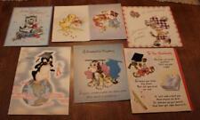 VTG GRADUATION CARDS LOT HALLMARK PUPPIES ANIMALS USED