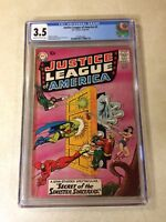 JUSTICE LEAGUE OF AMERICA #2 CGC 3.5 GREEN LANTERN AQUAMAN wonder woman 1960