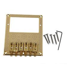 Gold Humbucker Bridge 6 Square Saddle For Fender Telecaster Tele TL Guitar