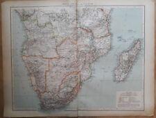1900's colonial empire Cassell's world atlas sheet - Africa South equator