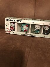 HELLO KITTY Set Of 4 Glassware Set. Brand New Item