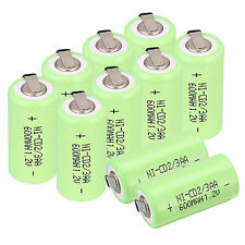 10pcs 2/3AA Size 1.2V 600mAh NI-CD Rechargeable Battery,Green