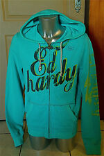vest hoodie zipped green ED HARDY c. audigier New size XL S LABEL