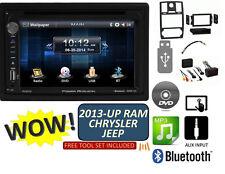 2013-UP RAM JEEP CHRYSLER TOUCHSCREEN CD DVD USB AUX BLUETOOTH CAR Stereo