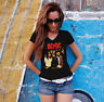 AC/DC Women Black T-shirt V-Neck ACDC Rock Band Fan Tee Shirt