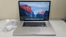 Apple MacBook Pro 17 A1297 C2D Mid 2009 T9600 @ 2.8Ghz 8GB 240GB SSD Capition