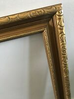 Vtg Gold Ornate Baroque Metallic Wood Carved Picture Photograph Frame 16 x 12