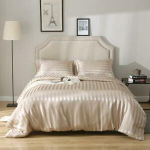 Luxury Satin Linens Bed Linen Bedding Set Duvet Cover Pillowcase Home Textiles