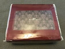 NWT DECCAN CREST EGYPTIAN COTTON 600 TC KING SHEET SET CRANBERRY RED