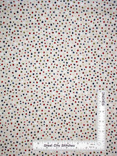 Patriotic Scatter Stars Red Blue Cream Cotton Fabric QT Be Strong Be Brave Yard