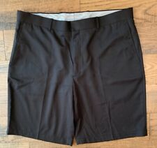 "Walter Hagen Golf Shorts Size 38 Black Flat Front 9.75"" Inseam"