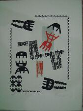 GIUSEPPE CAPOGROSSI LITOGRAFIA CM 50X70 corpora,angeli,festa,sughi