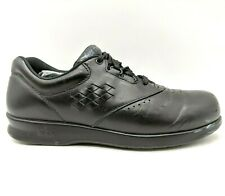 SAS Free Time Black Leather Lace Up Comfort Sneaker Shoes Women's 7.5 N