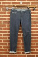 Joe's Jeans Womens Sz 30 Roll Cuff Chelsea Jeans Dark Blue Wash Joes Skinny Leg