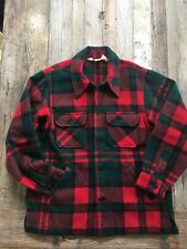 Vintage Woolrich Buffalo Plaid Red & Green Wool Mackinaw Jacket, L