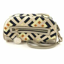 SPARTINA Daufuskie Island Multi-colored wristlet wallet Natural Linen/Leather