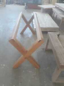 Custom handmade table legs solidwood beech oiled various sizes