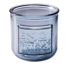 Teelichthalter Glas grau blau Enjoy little Things, P+D