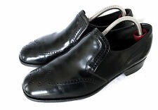 BARKER Full Brogue Herren Business Loafer Slipper Leder Schwarz UK 8.5 / 43 TOP
