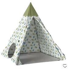 Pillowfort Kids 5' Play Tent Dragons Teepee Green + Carrying Bag Ages 3+ New