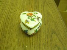 Ceramic Enesco Heart-Shaped Butterfly Sachet Box