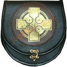 Kilt Sporran & Chain Leather Strap Belt & Free Chan belt