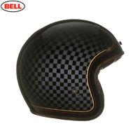 Bell Custom 500 Check It RSD Open Face Helmet + Leather Bag, Dark Visor & Peak