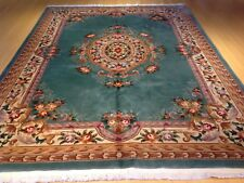 8.11 x 12.3 Chinese Floral Hand Knotted Oriental Thick & Plush Wool Rug CW 1241